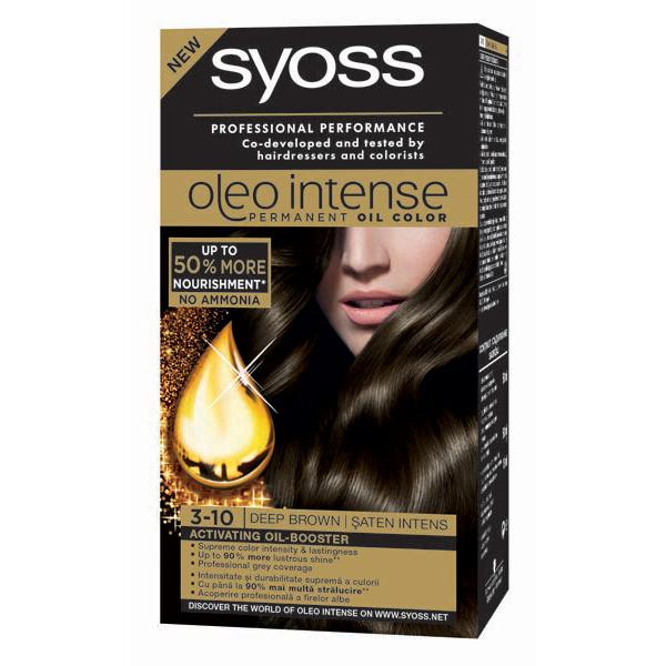 Vopsea de par SYOSS Color Oleo, 3-10 Saten Intens, 115ml