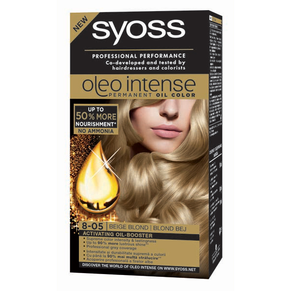 Vopsea de par SYOSS Color Oleo, 8-05 Blond Bej, 115ml