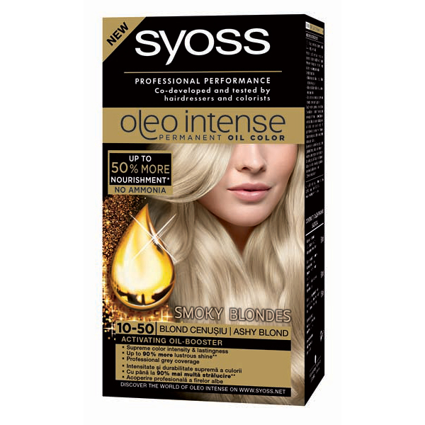 Vopsea De Par Syoss Color Oleo 10 50 Blond Cenusiu 115ml