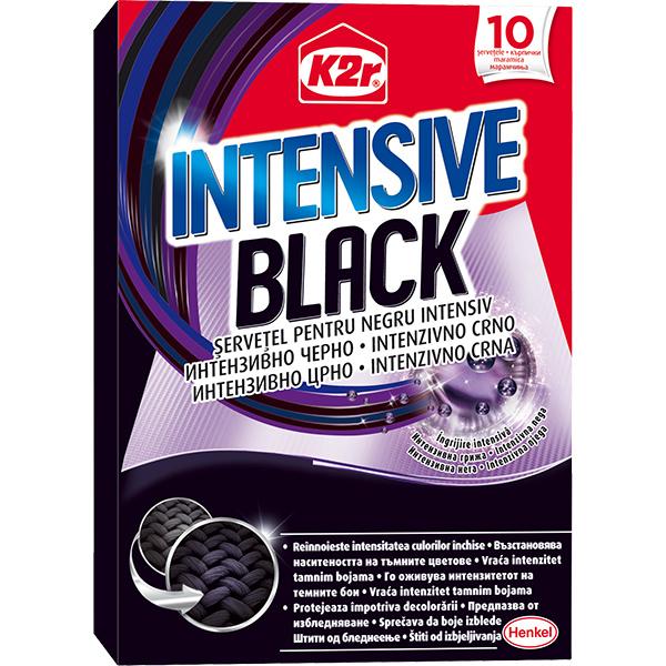 Servetele anti-transfer pentru rufe K2R Intensive Black, 10 buc
