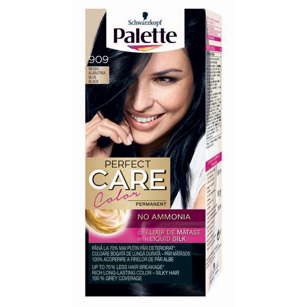 Vopsea de par PALETTE Perfect Care Creme, 909 Negru Albastrui, 115ml