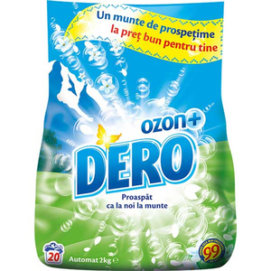 Detergent automat DERO Ozon Roua Muntelui, 2kg, 20 spalari