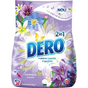 Detergent automat DERO 2 in 1 Levantica, 2kg, 20 spalari