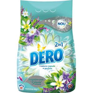 Detergent automat DERO 2 in 1 Iris Alb si Romanita, 4kg, 40 spalari