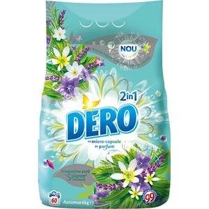 Detergent automat DERO 2 in 1 Iris Alb si Romanita, 6kg, 60 spalari