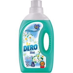Detergent automat  lichid DERO 2 in 1 Iris Alb si Romanita, 1.4l, 20 spalari