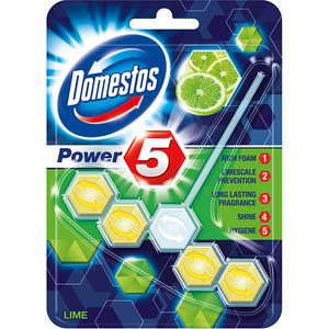 DOMESTOS Odorizant de toaleta 5 Lime, 55g