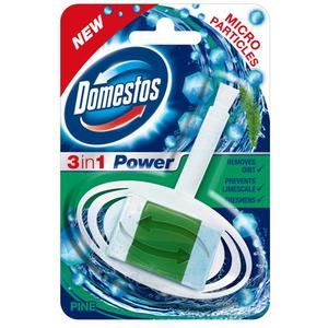 DOMESTOS Rimblock Solid odorizant de toaleta 3in1 Pine, 40g