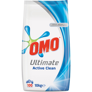 Detergent automat OMO Ultimate Active Clean Duo, 10kg, 100 spalari