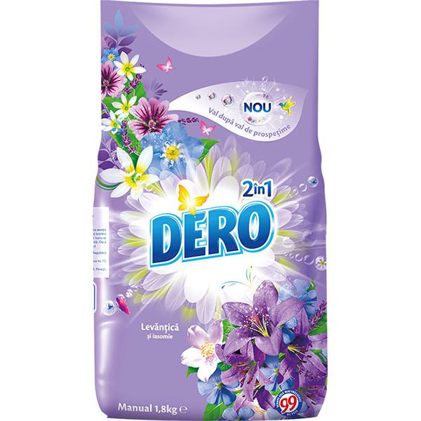 Detergent manual DERO 2 in 1 Levantica, 1.8kg, 36 spalari