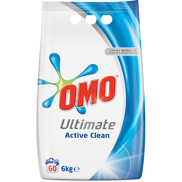 Detergent automat OMO Ultimate Active Clean Duo, 6kg, 60 spalari