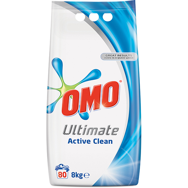 Detergent automat OMO Ultimate Active Clean Duo, 8kg, 80 spalari