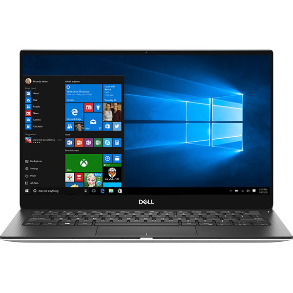 "Laptop DELL XPS 13 9380, Intel Core i7-8565U pana la 4.6GHz, 13.3"" Full HD, 16GB, SSD 512GB, Intel UHD Graphics 620, Windows 10 Pro, Argintiu"