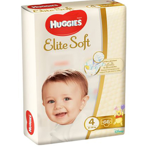 Scutece HUGGIES Elite Soft 4, Unisex, 8 - 14 kg, 66 buc