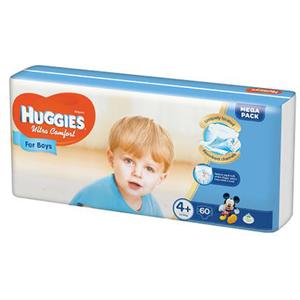 Scutece HUGGIES Ultra Confort 4+, Baieti, 10 - 16 kg, 60 buc