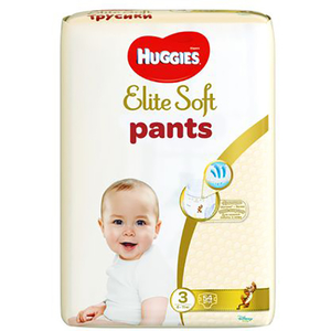Scutece chilotei HUGGIES Elite Soft Pants 3, Unisex, 6 - 11 kg, 54 buc