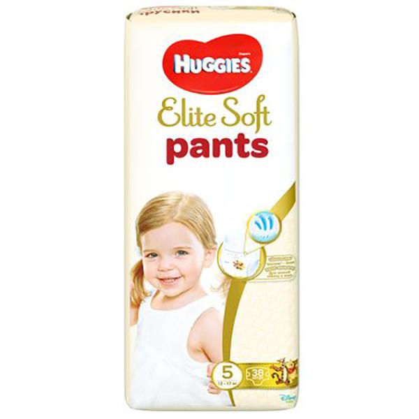 Scutece chilotei HUGGIES Elite Soft Pants 5, Unisex, 12 - 17 kg, 38 buc
