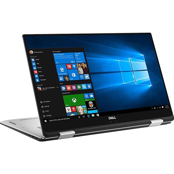 "Laptop DELL XPS 15 9575, Intel Core i7-8705G pana la 4.1GHz, 15.6"" UHD 4K Touch, 16GB, SSD 512GB, AMD Radeon RX Vega M 4GB, Windows 10 Pro, Silver"