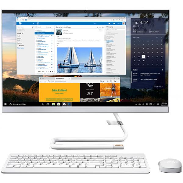"Sistem PC All in One LENOVO IdeaCentre A340-24IWL, 23.8"" Full HD, Intel Core i3-8145U pana la 3.9GHz, 4GB, SSD 128GB + HDD 1TB, Intel UHD Graphics 620, Free Dos"
