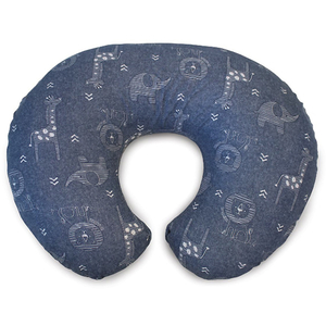 Perna alaptare 4 in 1 CHICCO Boppy Denim Animals, albastru inchis