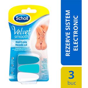 Rezerva pila electrica unghii SCHOLL Velvet Smooth Nail Care, 3 buc