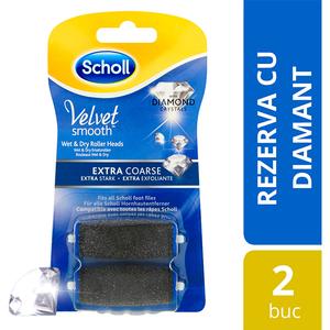 Rezerve pila electrica SCHOLL Velvet Smooth Extra Coarse, 2 buc