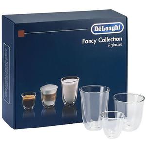 Set pahare DE LONGHI MIX, 6 piese, 0.06-0.22l, sticla, transparent