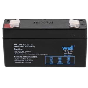 Acumulator plumb acid  WELL BAT-LEAD-6V1.3AH-WL, 6V, 1.3 Ah