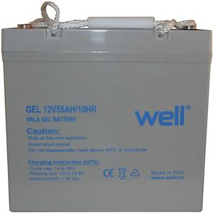 Acumulator plumb acid  WELL BAT-LEADG-12V55AH-WL, 12V, 55 Ah
