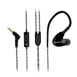 Casti PROMATE Active, microfon, in ear, cu fir, negru