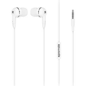 Casti PROMATE Earmate-IS, Cu Fir, In-ear, Microfon, alb