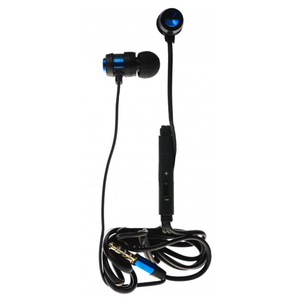 Casti TELLUR Trendy Strip Line, Cu Fir, In-ear, Microfon, albastru