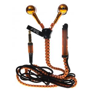 Casti in ear TELLUR Fantasy Zip Line, microfon, Portocaliu