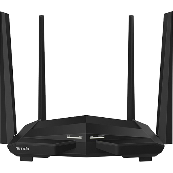 Router Wireless Gigabit TENDA AC10, Dual-Band 300 + 867 Mbps, negru