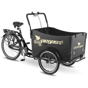 Bicicleta Cargo PEGAS Cargo Adult 20x20, Negru-Stelar