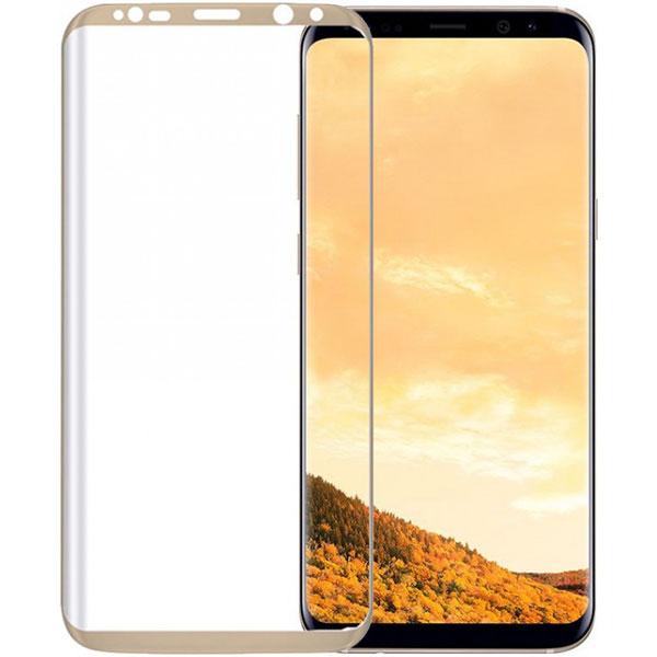 Folie Tempered Glass 3D TELLUR TLL145215 pentru Samsung Galaxy S8, Auriu