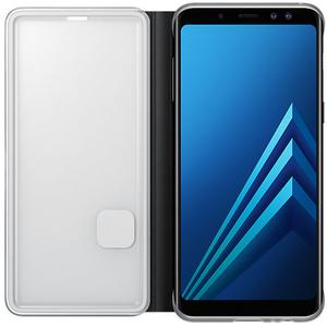 Husa Neon Flip Cover pentru SAMSUNG Galaxy A8, EF-FA530PBEGWW, Neon Black