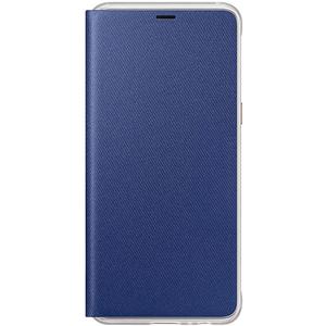 Husa Neon Flip Cover pentru SAMSUNG Galaxy A8, EF-FA530PLEGWW, Neon Blue