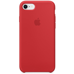 Carcasa pentru APPLE iPhone 8/7, MQGP2ZM/A, silicon, Red