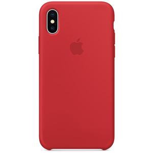 Carcasa pentru APPLE iPhone X, MQT52ZM/A, silicon, Red