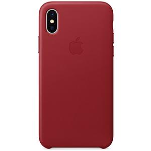 Carcasa pentru APPLE iPhone X, MQTE2ZM/A, piele, Red