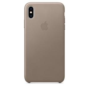 Carcasa pentru APPLE iPhone Xs Max, MRWR2ZM/A, piele, Taupe