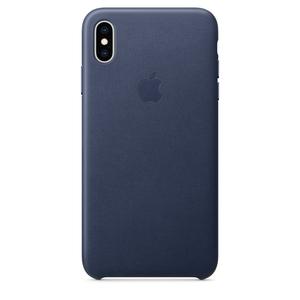Carcasa pentru APPLE iPhone Xs Max, MRWU2ZM/A, piele, Midnight Blue