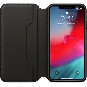 Husa Flip Cover pentru APPLE iPhone Xs Max, MRX22ZM/A, piele, Black
