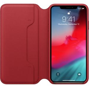 Husa Flip Cover pentru APPLE iPhone Xs Max, MRX32ZM/A, piele, (Product) Red