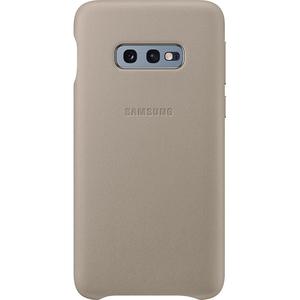Carcasa Leather Cover pentru SAMSUNG Galaxy S10e, EF-VG970LJEGWW, piele naturala, gray