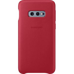 Carcasa Leather Cover pentru SAMSUNG Galaxy S10e, EF-VG970LREGWW, piele naturala, red