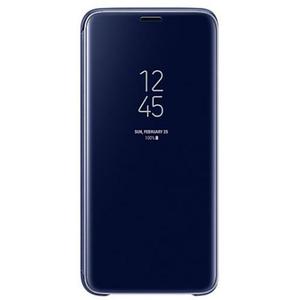Husa Clear View Standing pentru SAMSUNG Galaxy S9, EF-ZG960CLEGWW, Blue