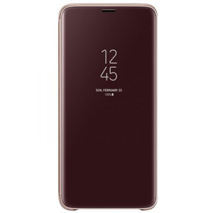 Husa Clear View Standing pentru SAMSUNG Galaxy S9 Plus, EF-ZG965CFEGWW, Purple Gold