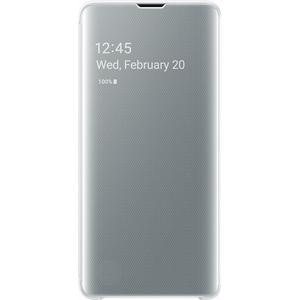 Husa Clear View pentru SAMSUNG Galaxy S10 EF-ZG973CWEGWW, white